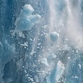 Closeup Of Dawes Glacier Calving by NaturesPix