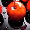 Closeup Of Red Candy Apple On Stick by Jorgo Photography - Wall Art Gallery