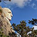 Closeup Profile Of George Washington At Mount Rushmore National Memorial In South Dakota by Sam Antonio Photography