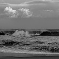 Cloud And Wave Black And White Seaside New Jersey  by Terry DeLuco