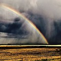 Cloud Burst And Rainbow Early Spring Storm by Brian Sereda