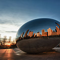 Cloud Gate At Sunrise by Sebastian Musial