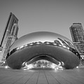 Cloud Gate Chicago Bw by Michael Ver Sprill