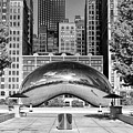 Cloud Gate Park Black And White by Christopher Arndt