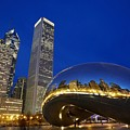 Cloud Gate The Bean Sculpture In Front by Axiom Photographic