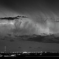Cloud To Cloud Lightning Boulder County Colorado Bw by James BO Insogna