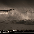 Cloud To Cloud Lightning Boulder County Colorado Bw Sepia by James BO Insogna