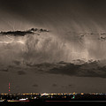 Cloud To Cloud Lightning Boulder County Colorado Sepia Color Mix by James BO  Insogna