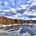Clouds Above The Lock And Dam by David Patterson