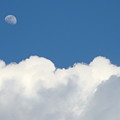 Clouds And Moon by Timothy Clemons