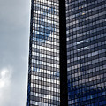 Clouds And Office Building Midtown  by Robert Ullmann