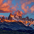 Clouds Around Fitz Roy - Patagonia by Stuart Litoff
