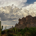 Clouds Bubbling Over The Superstitions  by Saija Lehtonen