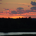 Clouds On Fire - Thousand Island Sunset -  by Linda Rae Cuthbertson