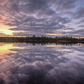 Kawishiwi River Sunset Refletion, Boundayt Watery Minnesota by Paul Schultz