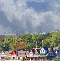 Clouds Over Boathouse Row by Alice Gipson
