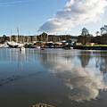 Clouds Over Cockwells Boatyard Mylor Bridge by Terri Waters