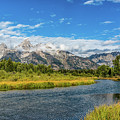 Clouds Over The Grand Tetons by Yeates Photography
