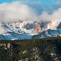 Clouds Receding On Pikes Peak by Steve Krull
