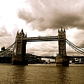 Cloudy Over Tower Bridge by Caroline Reyes-Loughrey