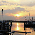Cloudy Sunset At The Marina by Robert Banach