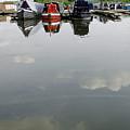 Cloudy Water At Barton Marina by Rod Johnson