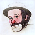 Clown Emmett Kelly by Miriam Danar
