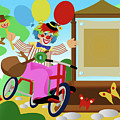 Clown Greeting by Stet Mihail Angelo