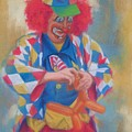 Clown Making Balloon Animals by Diane Caudle