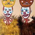 Clowns In Furry Cat Costumes by JoLynn Potocki