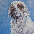 Clumber Spaniel In Snow by Lee Ann Shepard