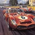 Cma 051 1962 Le Mans Ferrari 330 Driver Phil Hill Roy Rob by Eloisa Mannion