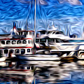 Coal Harbour Boats  by Julius Reque