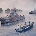 Coast Guard Cutters Pt Hudson And Pt Grace In Vietnam by William H RaVell III