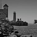 Coast Guard Station  by Frederic A Reinecke