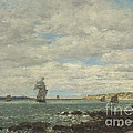 Coast Of Brittany by Eug?ne Boudin