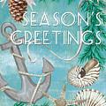 Coastal Christmas Card by Debbie DeWitt