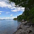 Coastal Maine's Rocky Shore On A Beautiful Summer Day by DejaVu Designs
