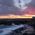 Coastal Sunset, Cape Neddick, York, Maine  -21056-sq by John Bald