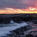 Coastal Sunset, Cape Neddick, York, Maine  -21056-v2 by John Bald