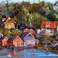 Coastal Village by Joan  Jones