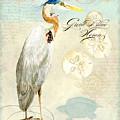 Coastal Waterways - Great Blue Heron 3 by Audrey Jeanne Roberts