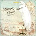 Coastal Waterways - Great White Egret 2 by Audrey Jeanne Roberts