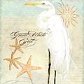 Coastal Waterways - Great White Egret 3 by Audrey Jeanne Roberts