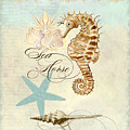 Coastal Waterways - Seahorse Rectangle 2 by Audrey Jeanne Roberts