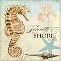 Coastal Waterways - Seahorse Serenity by Audrey Jeanne Roberts