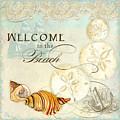 Coastal Waterways - Seashells Welcome by Audrey Jeanne Roberts