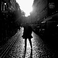 Cobblestone Path Home Paris Bw by Felipe Adan Lerma