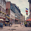 Cobblestone Streets In Old Montreal  by Maria Angelica Maira