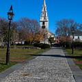 Cobblestone To Trinity Church Newport Rhode Island by Jason O Watson